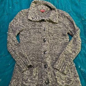 Cozy knit long cardigan